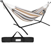 ZENY Double Hammock Space Saving Steel Hammock Stand 9ft Portable Carrying Bag